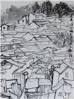 武夷山下梅村写生2.纸本水墨